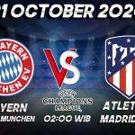 Prediksi Munchen vs Atletico Madrid 21 Oktober 2020