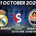 Prediksi Madrid vs Shakhtar Donetsk 21 Oktober 2020