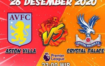 Prediksi Aston Vila VS Crystal Palace 27 Desember 2020