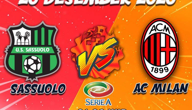 Prediksi Sassuolo vs Milan 20 Desember 2020