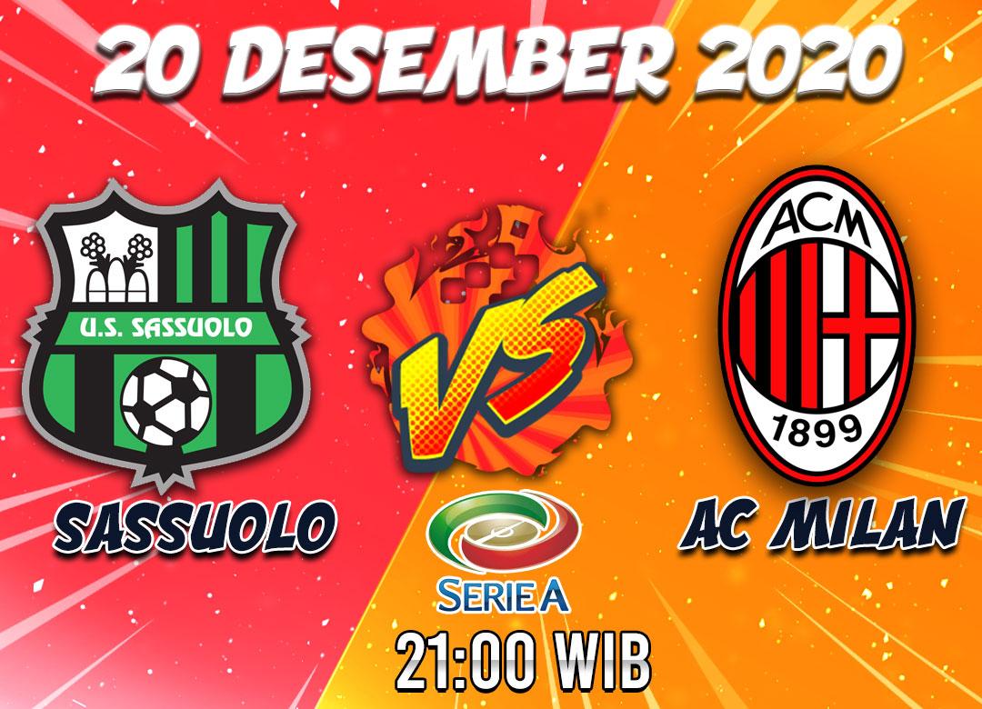 Prediksi Sassuolo vs AC Milan 20 Desember 2020