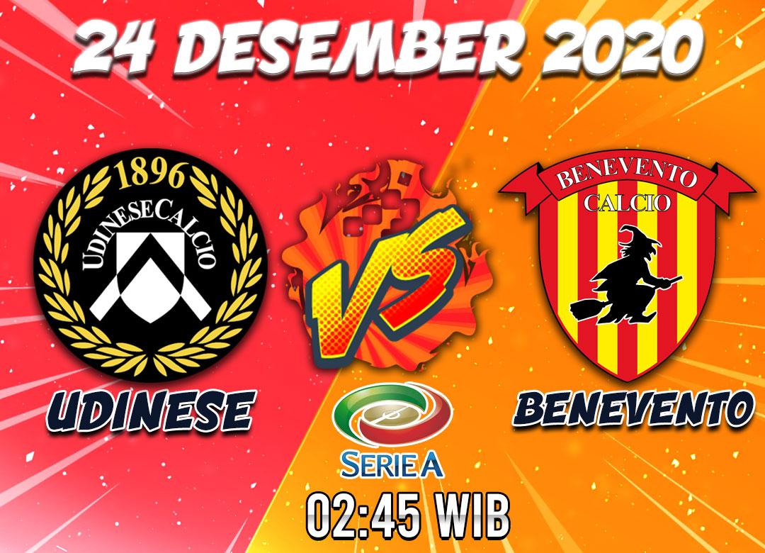 Prediksi Udinese VS Benevento 24 Desember 2020